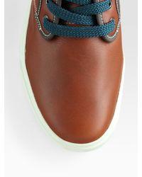 Lacoste - Brown Mid-top Sneaker for Men - Lyst