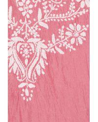 Leaves Of Grass   Pink Jaipur Embroidered Silk Kaftan   Lyst