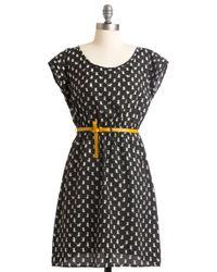 ModCloth | Black Feline and Dandy Dress | Lyst