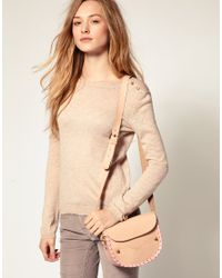 ASOS Collection | Natural Asos Leather Satchel with Fluro Whipstitch | Lyst