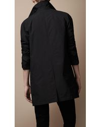 Burberry Brit Black Diamond Quilted Warmer Raincoat for men
