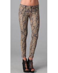DL1961 Multicolor Snakeskin Print Skinny Jeans
