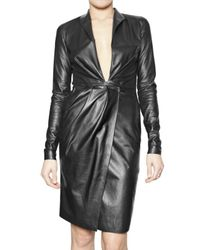 Ferragamo | Black Soft Nappa Dress | Lyst