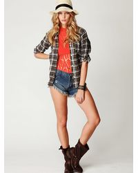 Free People   Red High Neck One Piece   Lyst
