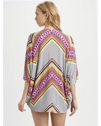 Mara Hoffman | White Mini Poncho Dress | Lyst