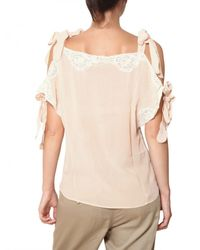 Mes Demoiselles Pink Silk Crepe with Bows Top