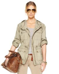 Michael Kors | Natural Cinched-waist Anorak | Lyst