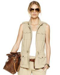 Michael Kors Natural Safari Vest