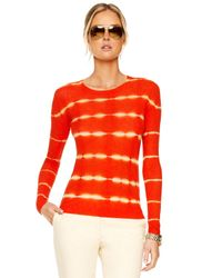 Michael Kors Red Tie-dye Striped Shirt