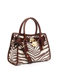 Michael Kors - Multicolor Hamilton Whipped East West Satchel, Tiger Print - Lyst