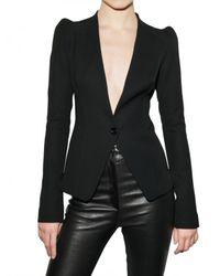 Mugler | Black Fluid Wool Jacket | Lyst