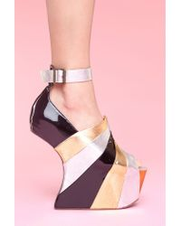 Nasty Gal | Black Rock Star Platform | Lyst