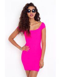 Nasty Gal | Pink Neon Lights Dress | Lyst