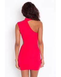 Nasty Gal - Red Rachelle Cutout Dress - Lyst