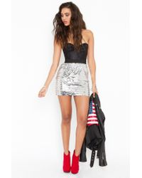 Nasty Gal - Metallic Disco Fever Skirt - Lyst