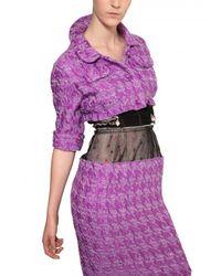 Nina Ricci Purple Blended Tweed Short Jacket