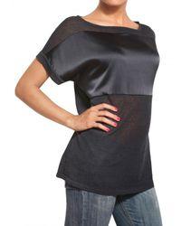 Parronchi Black Kimono Knit T-shirt