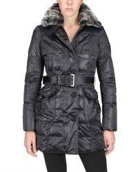 Peuterey | Gray Rabbit Fur & Nylon Taffetà Down Jacket | Lyst