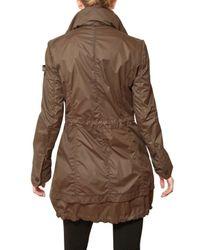 Peuterey Brown Fox Hill Nylon Parka Trench Coat