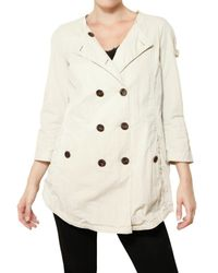 Peuterey White Mill House Light Drill Trench Coat