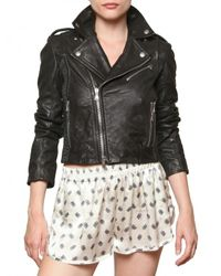 Balmain Black Biker Leather Jacket