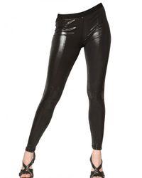 Balmain Black Latex Leggings