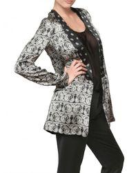 Balmain Black Reversible Silk Satin Jacket