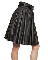 Preen By Thornton Bregazzi - Black Leather Skirt - Lyst