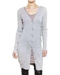 Preen By Thornton Bregazzi - Gray Tiered Back Cardigan Sweater - Lyst