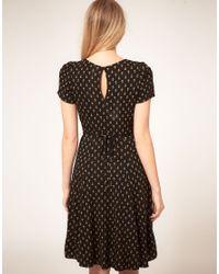 Oasis Multicolor Anchor Print Tea Dress