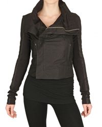Rick Owens Black Biker Velo Leather Jacket