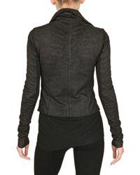 Rick Owens Black Blistered Biker Nappa Leather Jacket