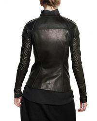 Rick Owens - Black Nappa & Tumbled Calfskin Leather Jacket - Lyst