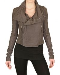 Rick Owens | Brown Blistered Biker Nappa Leather Jacket | Lyst