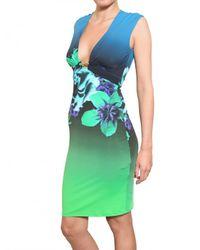 Roberto Cavalli - Multicolor Printed Lycra Dress - Lyst