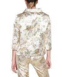 Rochas Metallic Damask Rayon Jacket