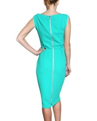 ROKSANDA Green Jade Wool Crepe Sheath Dress