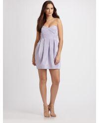 Shoshanna Purple Strapless Mini Dress
