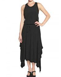 Silent - Damir Doma Black Crepe Sable Handkerchief Skirt Dress