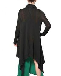 Silent - Damir Doma Black Linen Wrap Cardigan Sweatshirt