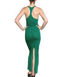 Silent - Damir Doma Green Jersey Long Dress