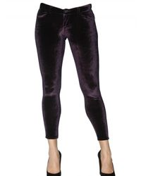 Siwy | Purple Velvet Stretch Trousers | Lyst