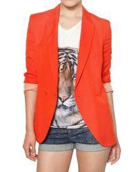 Stella McCartney | Orange Dry Slub Viscose Twill Jacket | Lyst