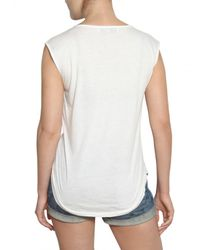 Stella McCartney White Hawaiian Print Cotton Jersey Tank Top