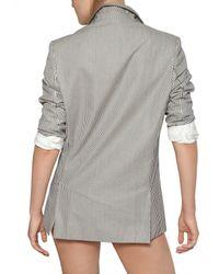 Stella McCartney | Gray Striped Cotton-seersucker Blazer | Lyst