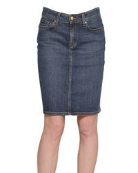 Tommy Hilfiger | Blue Denim Stretch Skirt | Lyst