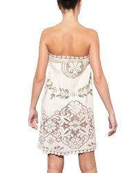 Valentino White Lace Bobinè Flandre Cotton Dress