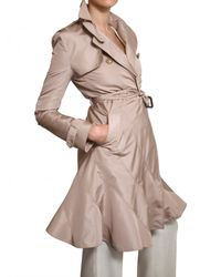 Valentino Natural Silk Faille Trench Coat