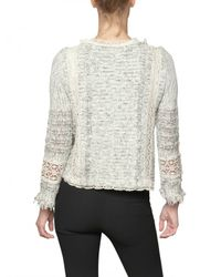 Vanessa Bruno Gray Croche Tweed with Fringing Jacket