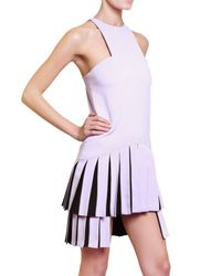 Versus | Purple Pleated Cady Stretch Dress | Lyst